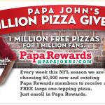 Papa John's Million Pizza Giveaway